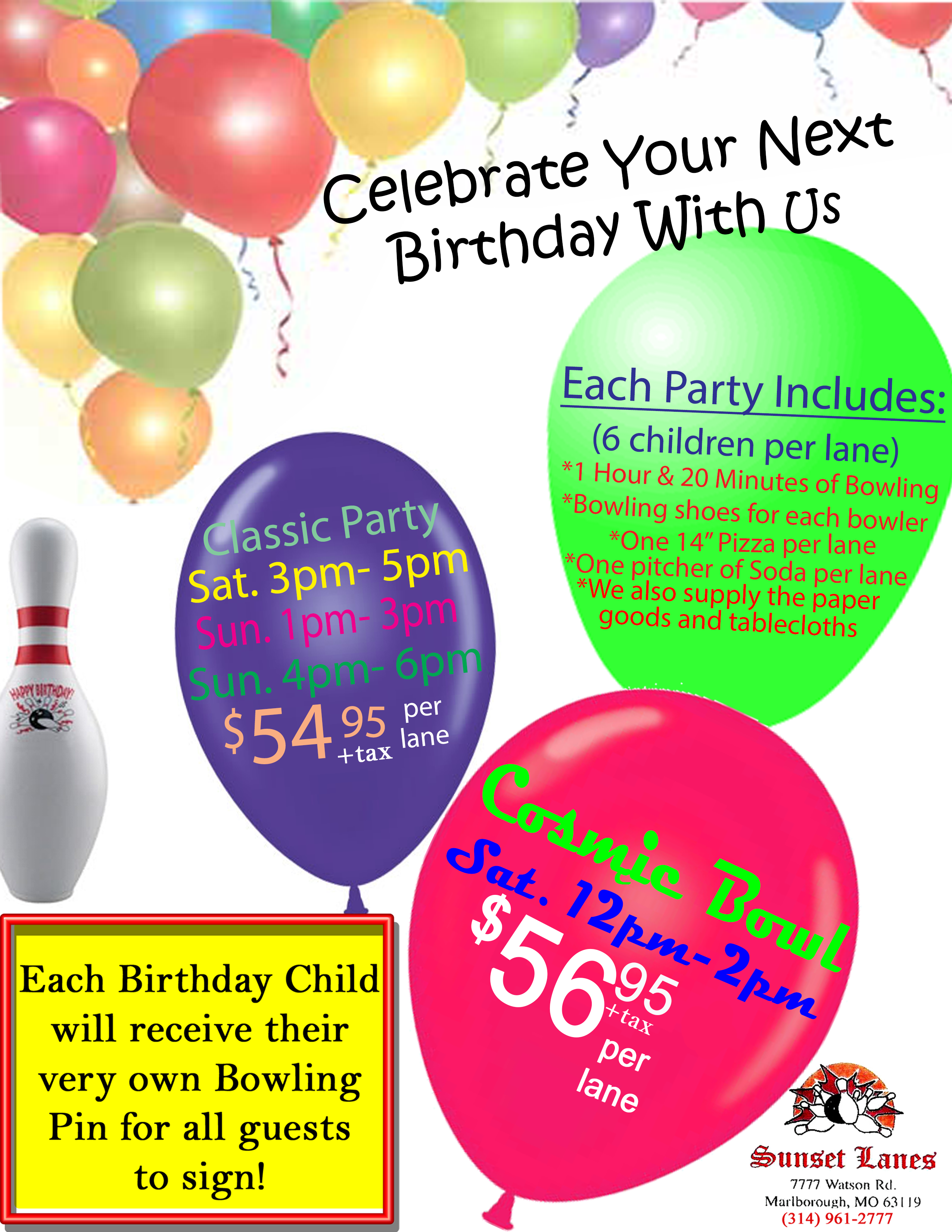 birthday flier